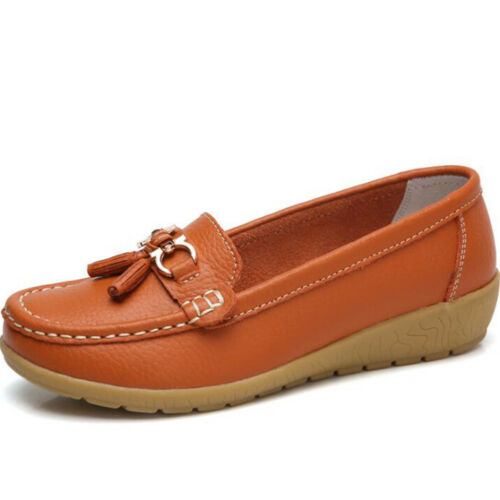 Womens Driving Loafers Moccasin Oxford Comfy Slip On Shoes Flat Lazy Peas Size