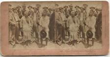 Philippines, Filipino Prisoners Taken at Malabon, P. I.,Old 3D Stereo Photo 1900