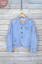 Vintage Levi's Light Blue Denim Blazer Jacket (L)