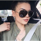Women Large Oversize Fashion Aviator Metal Sunglasses