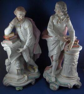 Antico-18thC-Derby-Porcellana-Milton-Shakespeare-Statuina-Figura-Inglese-England