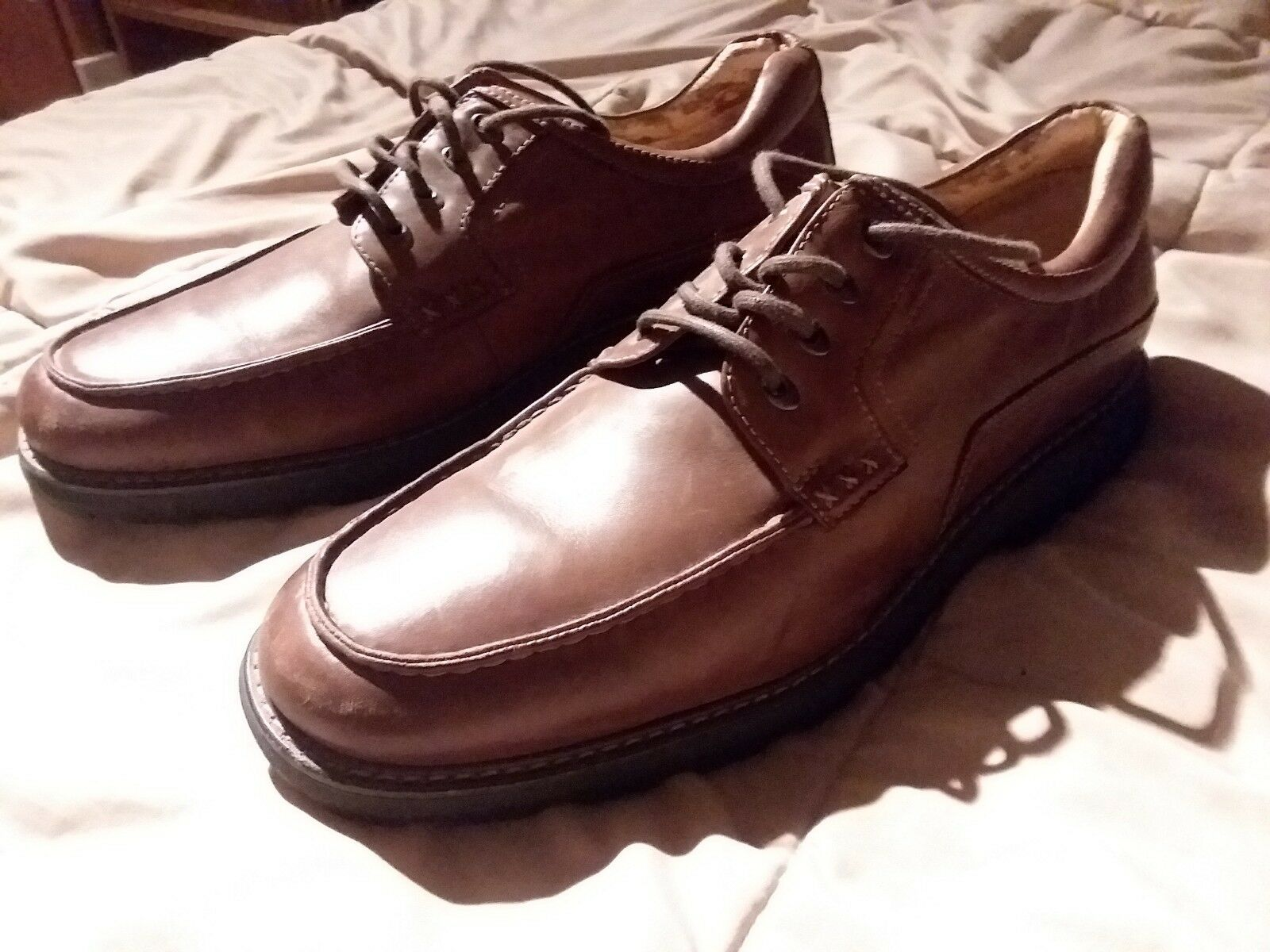 CHAPS Mens Brown Leather Dress Oxford Lace shoes size 13m 96-6018