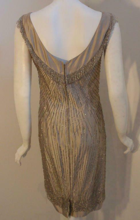 CEIL CHAPMAN 1950s Champagne Silk Shimmering Cock… - image 7