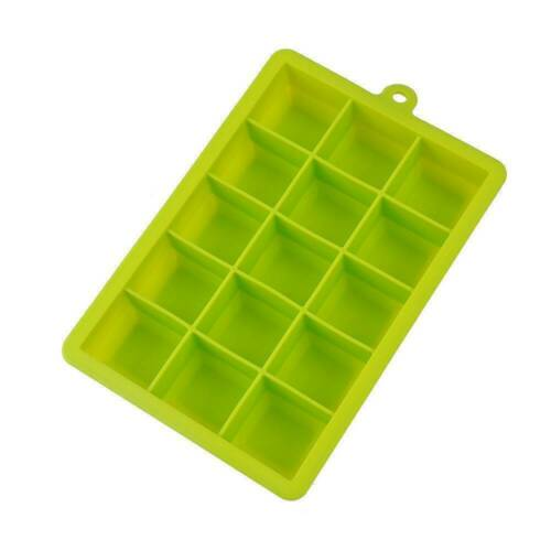 15//24Grids Food Grade Silicone Ice Cube Tray Large Mould Mold Giant Maker Square