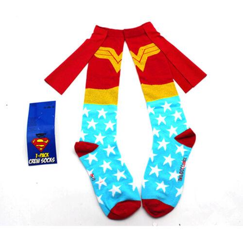 Damen Superman Batman Muppets Socken Strümpfe Kniestrümpfe Stockings Knielang