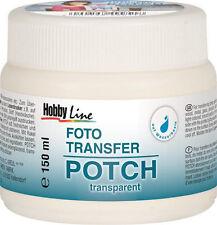 Foto Transfer Potch 150 ml (5 €/100 ml), Photo Transfer Kleber