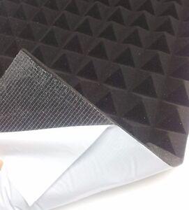 Pyramiden Schaumstoff SELBSTKLEBEND Dämmung Akustik Koffer HI-FI PC 49 x 49 cm