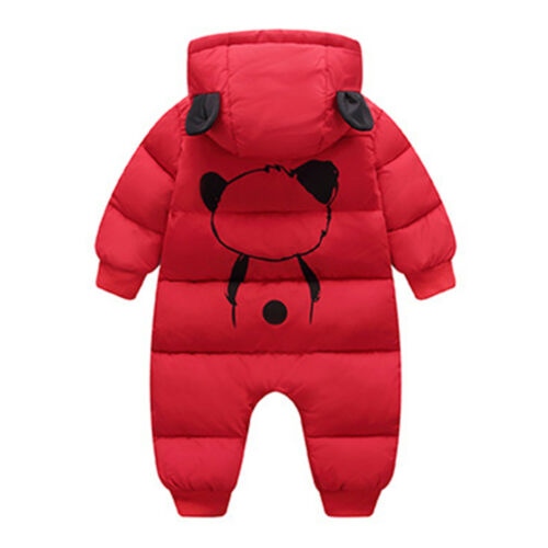 Baby Girls Boys Romper Winter Hooded Outerwear Snowsuit Outfits Thick Jumpsuit