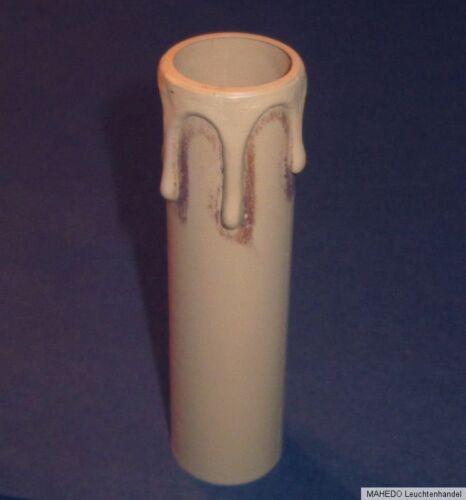 Kerzenhülse E14 Tropfen Zierhülse Fassungshülse Lampenhülse antik braun 26x100 S