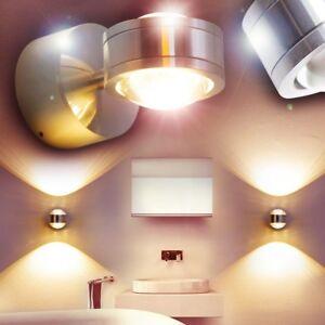 Details zu Design LED Badleuchte Badezimmer Wand Bad Leuchte Strahler Spot  Nassraum IP44