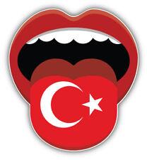 Turkey Flag Mouth Car Bumper Sticker Decal Sizes