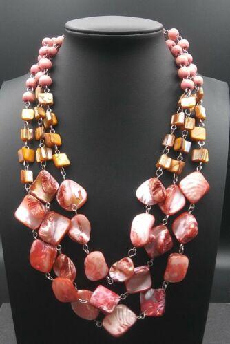 Vintage Pink & Orange Necklace 1950's 1960's
