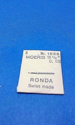 3 NEW Winding Stems MOERIS CAL D,CD RONDA N 1636 SWISS MADE