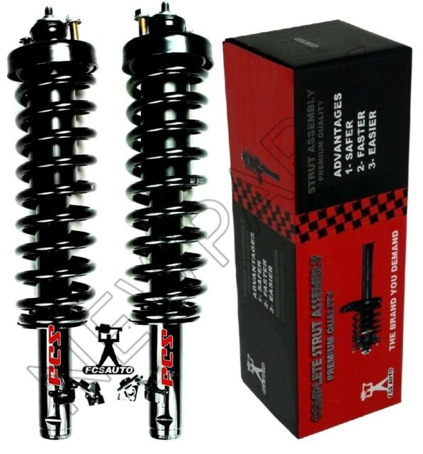 Set of 2 New Complete Front Quick Struts /& Spring w//Mount For 92-95 Honda Civic