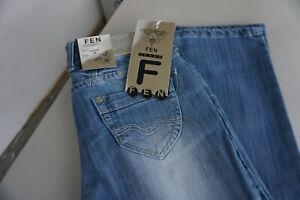 FEN-Damen-Jeans-stretch-Hose-38-33-W38-L33-blau-NEU-C34
