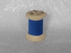 Pincushion-Handmade-034-Cotton-Reel-034-Blue