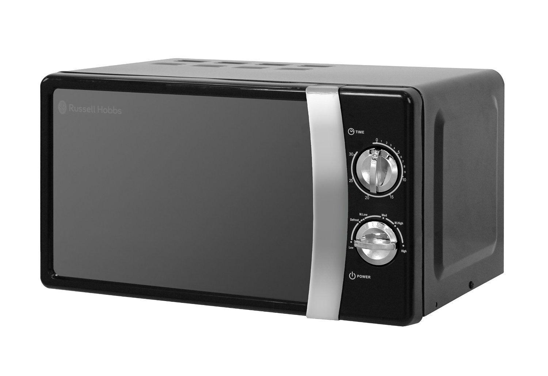 Nouveau RUSSELL HOBBS 17 L autoportant Manuel micro-ondes, 5 niveaux de puissance, 700 W, noir