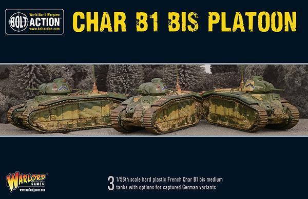 Char B1 Bis Plotone - Bolt Azione  - Warlord giocos WW2  Sconto del 40%