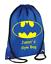 PERSONALISED Drawstring Bag BATMAN Bag for Kids Children School Gym Gym Gift