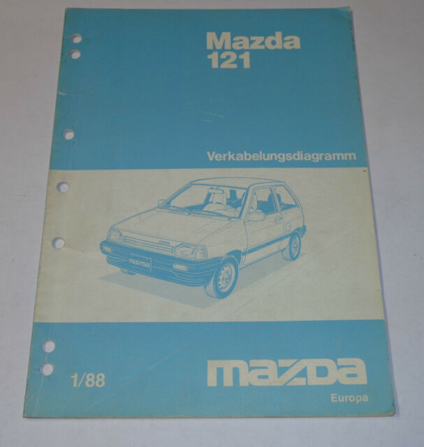 Workshop Manual Mazda 121 Electricity  Wiring Diagrams