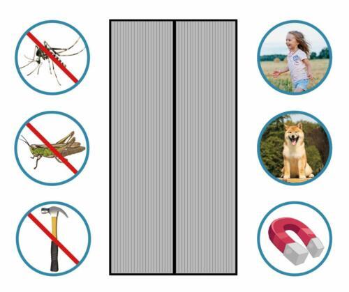 2pcs Protection Insectes Rideau Moustiquaire Porte Insectes Rideau 210 x 90 cm