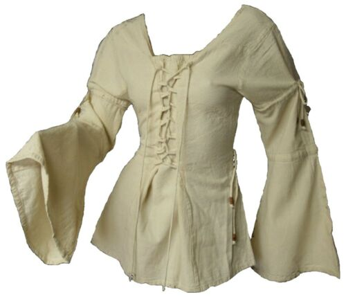 Gothic Medieval Larp Maid Bodice Blouse To 36 38 40 42 44 46