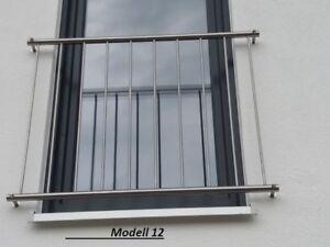 Fabulous französischer Balkon Edelstahl / Absturzsicherung / Geländer | eBay RR07