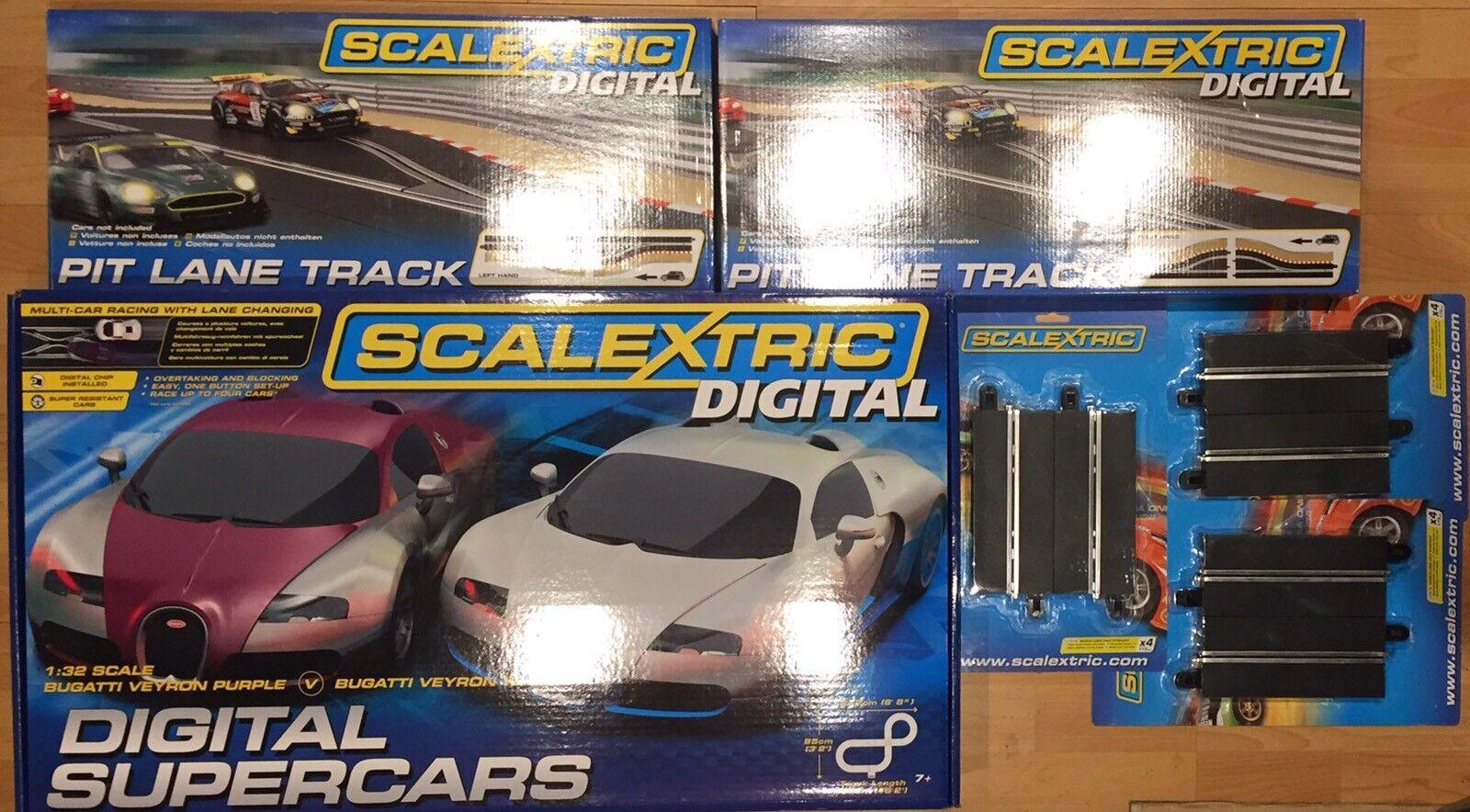Scalextric Digital Supercars & Pit Lane C1322 C7014 C7015 C7016 Bundle