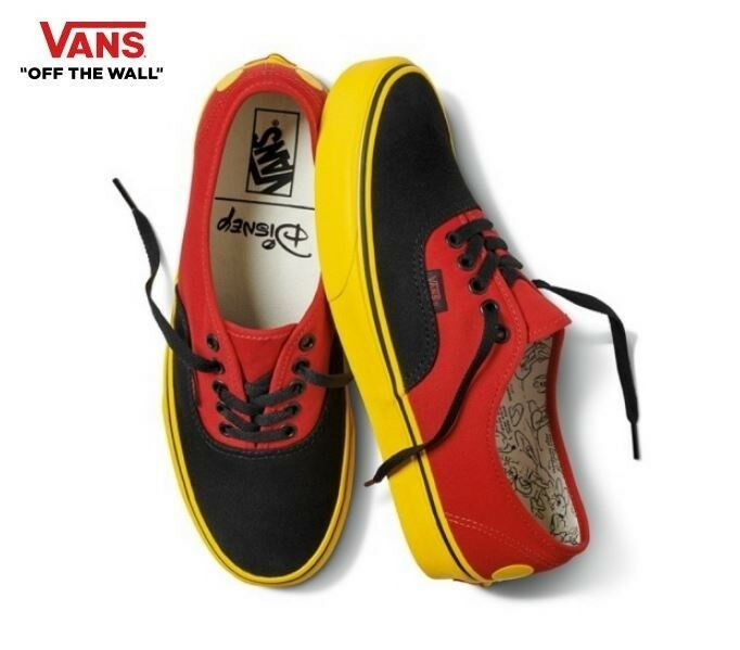 Para Hombre Vans Disney Auténtico Multi Color Street X Estilo Moda Tenis, Zapatos