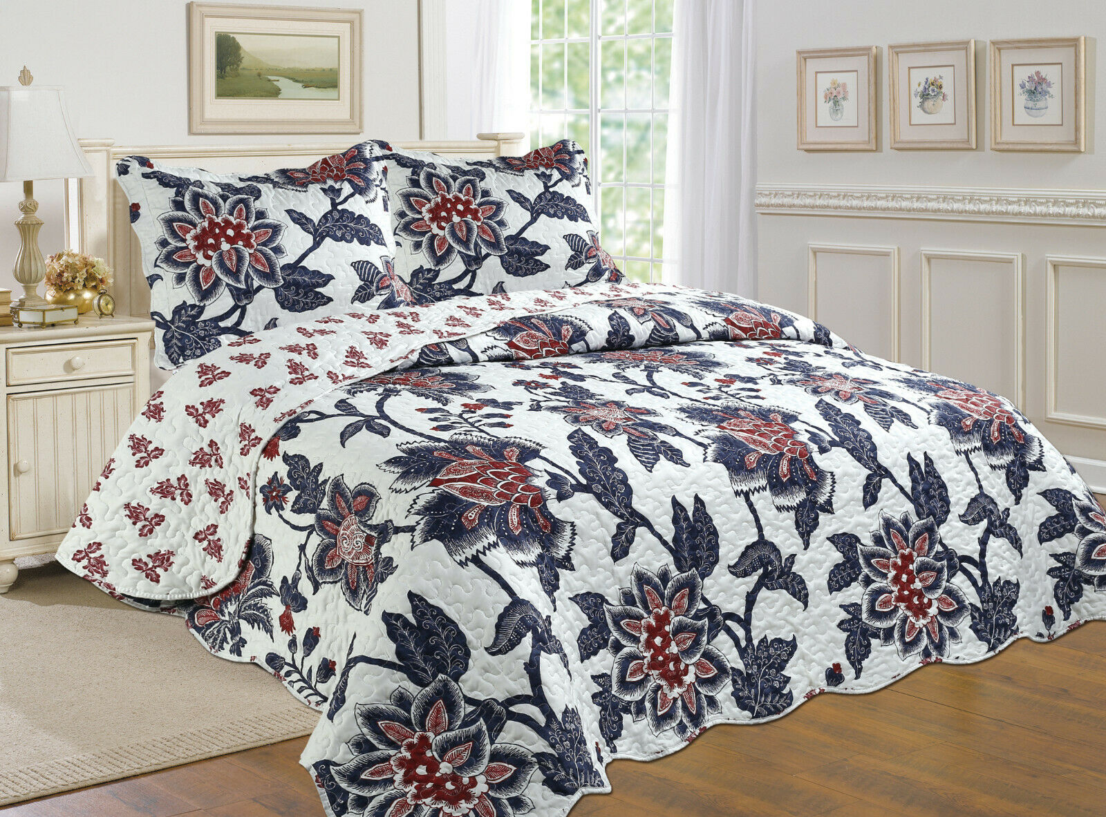 bettspread, Reversible 3pc YOU FOR ALL abdeckunglet,Quilt ...