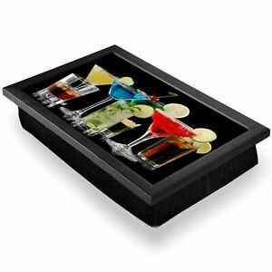 Deluxe Lap Tray - Cocktail Drinks Alcohol Home Gift #3205