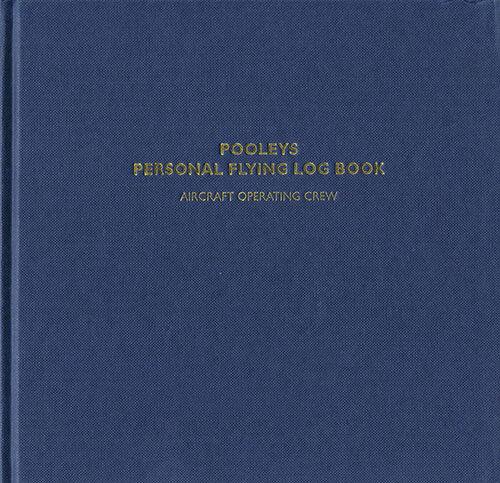 Pooleys (Non-EASA) Commercial Pilots Log Book