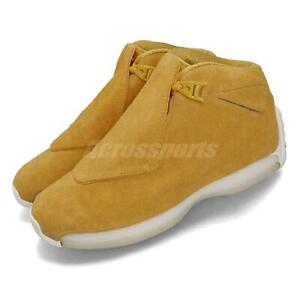 Air Jordan 18 Retro Men/'s Basketball Shoes  Yellow Ocher-sail  Suede