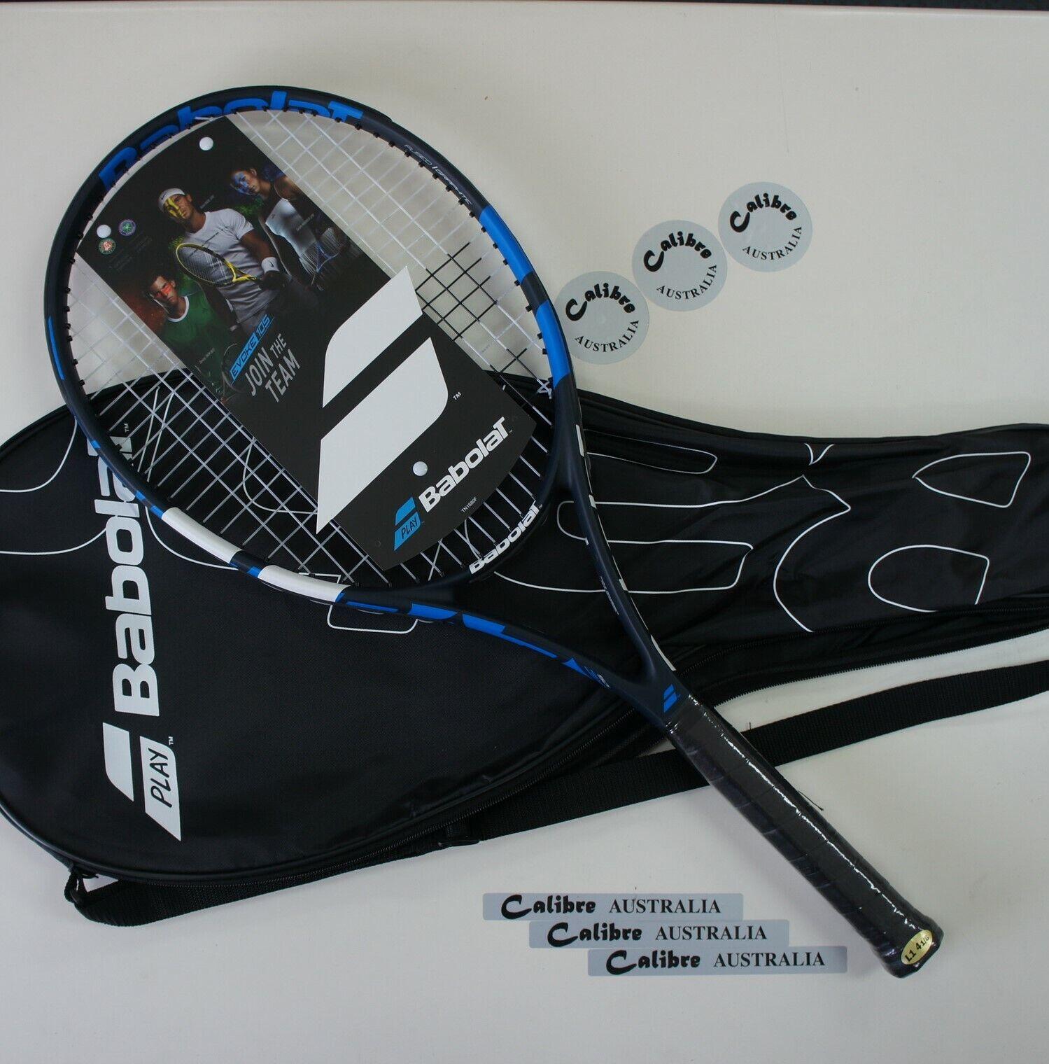 BABOLAT Tennis Racquet EVOKE 105, STRUNG, bluee, Grip 1 (4-1 8 ), 2019 New