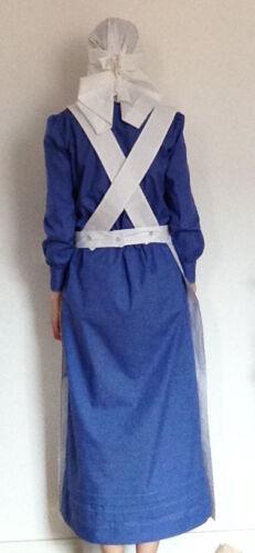 Ww1 WWI VAD CROCE ROSSA INFERMIERA Uniforme Costume fatto a mano Abito Grembiule velo la manichetta