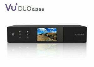 VU+ DUO 4K SE (SELECT YOUR TUNERS) PVR ready Linux Enigma Receiver UHD 2160p