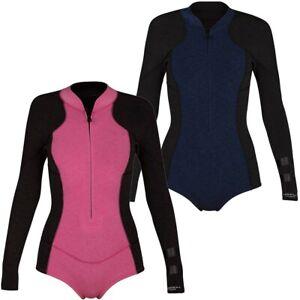 Hurley Women/'s Advantage Plus 2//2MM Long Sleeve Wetsuit Surf Jacket Black