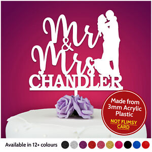 Mr-amp-Mrs-PERSONALISED-Wedding-Cake-Topper-Wedding-Cake-Decoration-Keepsake