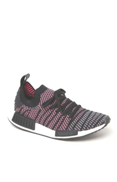 c78e9f414be Adidas NMD R1 Stlt PK Primeknit Boost Pink Black Grey CQ2386 Men's 8.5-10.5