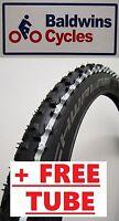 26 x 2.25 SCHWALBE SMART SAM WHITE LINE Mountain Bike Tyre + FREE TUBE*