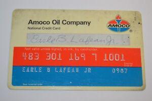 Vintage-Used-AMACO-Oil-Company-Plastic-Credit-Card-Rare-Standard-Oil-Company