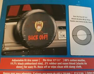 Taz-Back-Off-Tasmanian-Devil-Spare-Adjustable-Tire-Cover-Fits-27-034-31-034-X-9-034-NEW