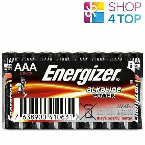 8 x Energizer Alkaline AAA lr03 Battery Power Micro mn2400 e92 1.5v NEW