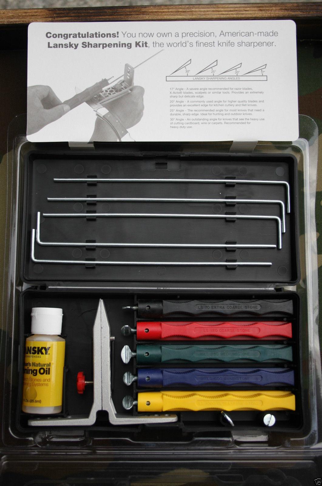 Lansky DLX 5er Deluxe Schleifset Schärfer Messerschärfer Schwarz 5 Sharpener  | Online Shop Europe