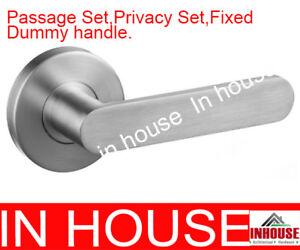 Satin-stainless-steel-door-handles-passage-set-privacy-set-fixed-dummyhandle-608