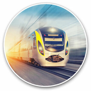 2-x-Vinyl-Stickers-7-5cm-Cool-Modern-Bullet-Train-Railway-Track-Cool-Gift-841