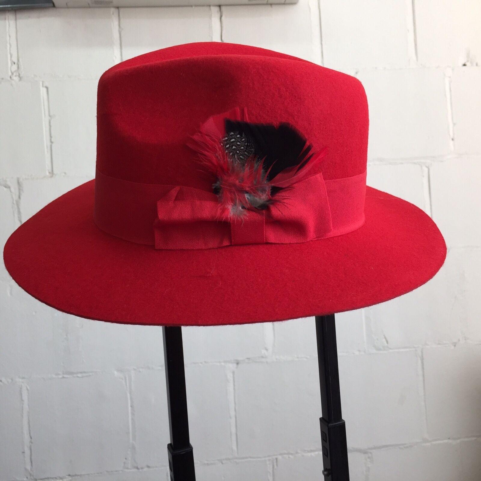Men/'s Fashion 100/% Wool Fedora Trilby Mobster Hat LH-1