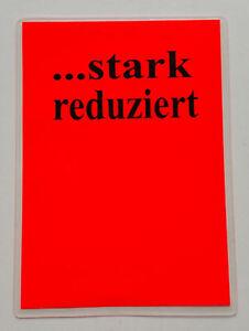 10 Preisschilder Laminiert Stark Reduziert Ca Din A5 A6 Plakat