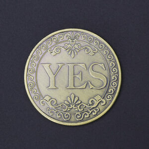 YES-NO-Letter-Floral-Commemorative-Coin-Ornaments-Collection-Arts-Gifts-Souvenir