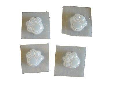 Mini Dog Cat Paw Print Footprint Soap Mold Set Of 4 4662